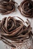 Raw chocolate pasta Stock Photo