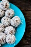Raw chocolate truffles Stock Photos