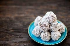Raw chocolate truffles Royalty Free Stock Image