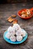 Raw chocolate truffles Stock Images