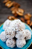 Raw chocolate truffles Royalty Free Stock Photo
