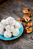 Raw chocolate truffles Royalty Free Stock Photos