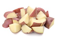 Raw chopped potatoes Royalty Free Stock Images