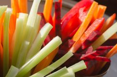 Raw chopped vegetables Stock Photos