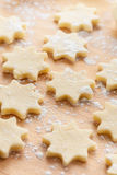 Raw Christmas cookies Royalty Free Stock Image