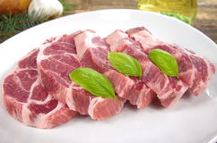 Raw chuck steak Royalty Free Stock Images