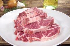 Raw chuck steak Stock Images