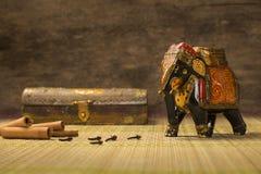 Raw cinnamon from india Stock Photo
