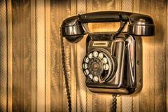 Raw classic telephone Stock Photo