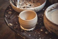 Raw clay vase royalty free stock image