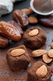 Raw Cocoa Dates Royalty Free Stock Photography