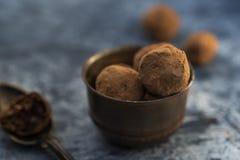 Raw cocoa truffles royalty free stock photos
