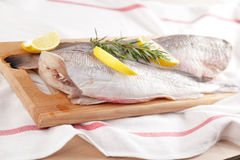 Raw cod Stock Photo