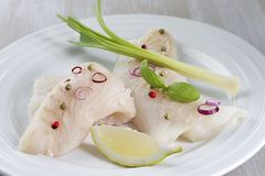 Raw cod filet Stock Image