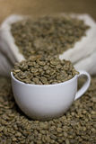 Raw coffee beans Royalty Free Stock Photos