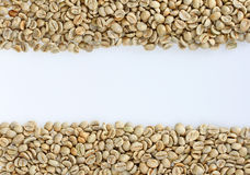 Raw coffee beans Royalty Free Stock Images
