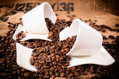 Raw coffee Royalty Free Stock Photography
