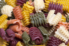 Raw color wavy noodles Royalty Free Stock Image