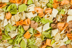 Raw colored pasta Royalty Free Stock Photography