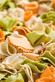 Raw colored pasta Stock Photo