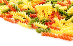 Raw colored pasta Stock Images