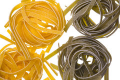 Raw colored pasta Royalty Free Stock Images