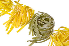 Raw colored pasta Stock Image