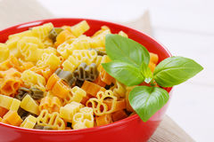 Raw colored pasta Royalty Free Stock Photos