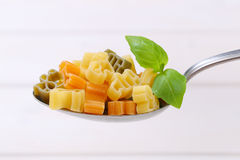 Raw colored pasta Stock Photos