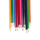 Raw of colored pencils Stock Photo