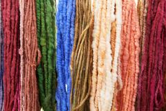 Raw colored Yarn Stock Images