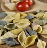 Raw Colorful Pasta Royalty Free Stock Photos