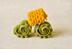Raw colorful pasta swirl Stock Photography