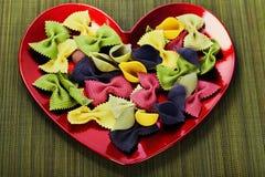 Raw colorful pasta Stock Photo
