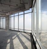 Raw concrete interior at the top of dubai Royalty Free Stock Photos