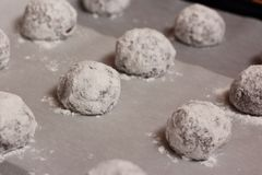 Raw cookie balls Royalty Free Stock Image