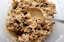 Raw cookie dough mixed royalty free stock images
