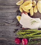 Raw Cooking Ingredients Stock Image