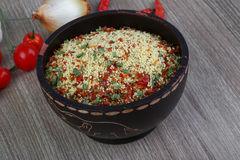 Raw couscous Stock Image