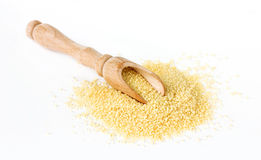 Raw couscous isolated Royalty Free Stock Image