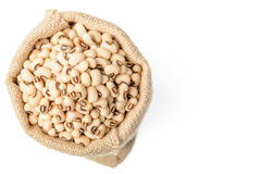 Raw cowpea beans in the sack Royalty Free Stock Photos