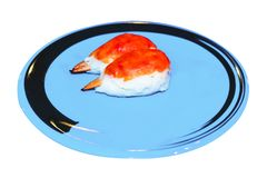 Raw crab on dish to creative for design and decoration isolate. On background.Copy space Stock Photography