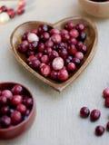 Raw cranberries royalty free stock photos