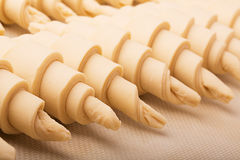 Raw croissants Stock Photography