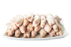 Raw crubeens or pig trotters Royalty Free Stock Photo