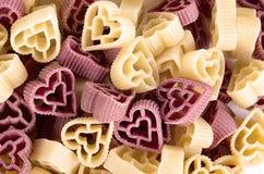 Raw cuoretti pasta Stock Images