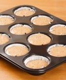 Raw cupcake dough Royalty Free Stock Photos