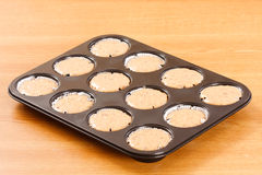 Raw cupcake dough Stock Photos