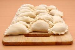 Raw curds (fruit dumplings). Stock Photography