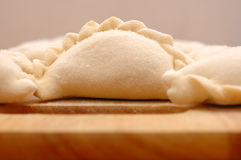 Raw curds (fruit dumplings). Royalty Free Stock Image